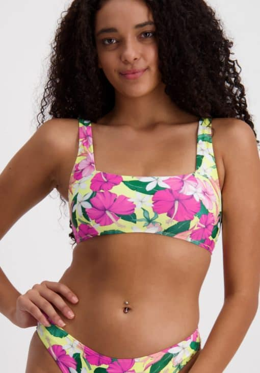 Piha Tahiti Holiday Square Neck Bikini Top