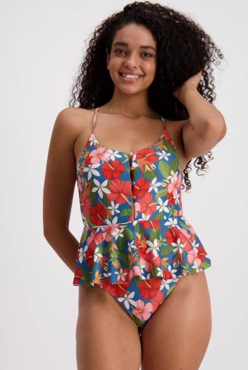 Piha Tahiti Holiday Peplum Swimsuit
